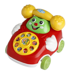 Gotui Spielfigur Telefonspielzeug, Simulationstelefon,Telefon pädagogisch