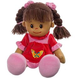 Heunec® Stoffpuppe Poupetta Lucy mit braunem Haar 50 cm (1-tlg)