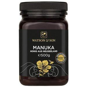 WatsonundSon Honig Manuka Honig MGO 600+, aus Neuseeland, 500g