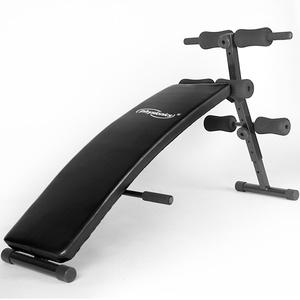 Physionics Bauchtrainer Sit-up Bank klappbar + verstellbar inkl. gepolsterte Beinfixierung