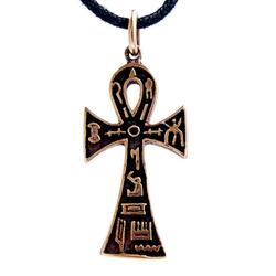 Kiss of Leather Kettenanhänger Ankh Anch ägyptisches Kreuz Lebenskraft Gotik Bronze