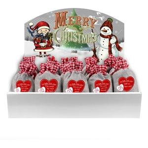 24 Adventskalender Säckchen (10 x 15 cm) aus Filz mit 24 Gründen Ich Liebe Dich, Weil (für Erwachsene Männer & Frauen geeignet) für Adventskalender zum Befüllen (mit Adventsbox Snow) von