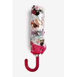 Next Taschenregenschirm Regenschirm mit Hundeprintund gebogenem Griff, None