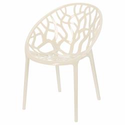 Krzesło z tworzywa Kingsly w kolorze kości słoniowej