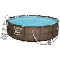 BESTWAY Steel Pro Max Pool Rund 9150 l Braun