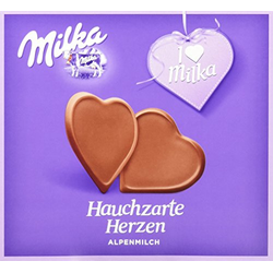 Milka, I love Milka, Hauchzarte Herzen, 130g, 5er Pack