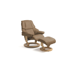 Stressless Ruhesessel Reno (S) in Paloma almond mit Classic Eiche Gestell