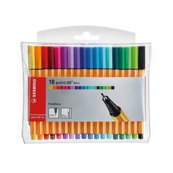 STABILO Fineliner Fineliner point 88 Mini, 18 Farben