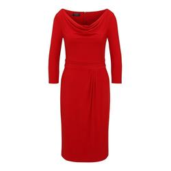 Apart Jerseykleid mit Wasserfallkragen mit Wasserfallkragen rot 44