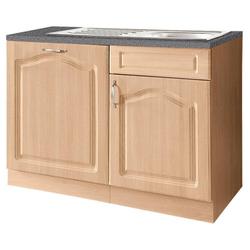 wiho Küchen Spülenschrank 110 cm breit, inkl. Tür für Geschirrspüler natur