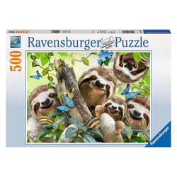 Ravensburger Puzzle Faultier Selfie, 500 Puzzleteile