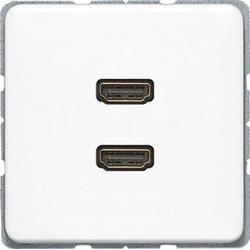 Jung Multimediadose 2 x HDMI alpinweiß MA CD 1133 WW