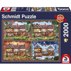 Schmidt Spiele Puzzle Jahreszeiten Haus, 2000 Puzzleteile, Made in Germany