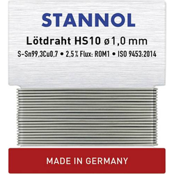Stannol HS10 Lötzinn, bleifrei bleifrei Sn0.7Cu 6g 1mm