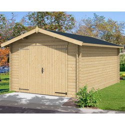 Nordic Holz Garage Mauritius, BxT: 382x560 cm, 202 cm Einfahrthöhe