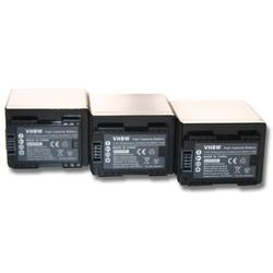 vhbw 3x Akku Set 4450mAh (3.6V) mit Infochip für Kamera Canon Legria HF R706, Legria HF R76, Legria HF R78 wie BP-727, BP-745.