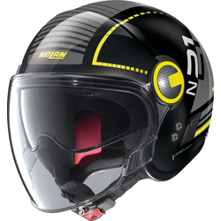 Nolan N21 Visor Runabout Jet helm, zwart-geel, L