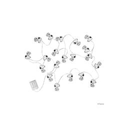 BUTLERS Lichterkette PEANUTS LED Papierlichterkette Snoopy 20 Lichter