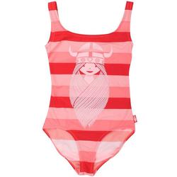 Danefae Badeanzug Danefae Badeanzug mit UV 50+ Schutz rot, Blockstreifen 104-110