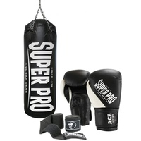 Super Pro Boxsack SET Water Air Bag (Set, mit Bandagen, mit Boxhandschuhen)