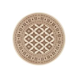 Teppich Sao Buchara, NOURISTAN, rund, Höhe 9 mm, Kurzflor, Orient-Optik natur