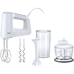 Braun Handmixer HM 3135, 500 Watt, Mixer, 800011-0 weiß weiß