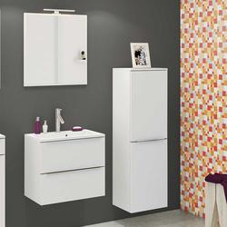 Möbel Einrichtung für Badezimmer Weiß (dreiteilig)