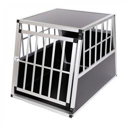zoomundo Hundetransportbox / Kofferraumbox aus Aluminium - 1-Türig Premium