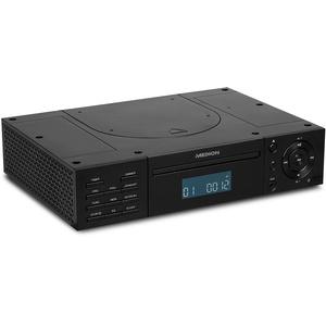 MEDION E66265 Küchenradio mit CD Unterbauradio (Küchenunterbauradio, zur Unterbau Montage, 2 X 2 Watt RMS, PLL UKW/UKW Radio, 20 Senderspeicher, Radio Data System, AUX Eingang) schwarz