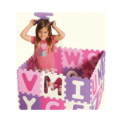 Playshoes Puzzlematte Puzzlematte pink, 36-teilig, Puzzleteile