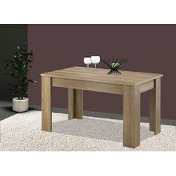 Feldmann-Wohnen Esstisch SKY (Tisch), B/T/H: 140 - 180 cm x 80 cm x 75 cm beige