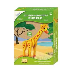 MAMMUT Spiel und Geschenk 3D-Puzzle 3D Schaumstoff Puzzle Giraffe, Puzzleteile