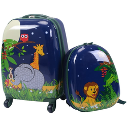 COSTWAY Kinderkoffer 2tlg Kinderkoffer bunt 23 cm x 46 cm x 29 cm