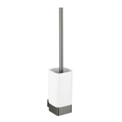 WENKO Montella WC-Garnitur, Toilettenbürstenhalter aus Keramik, Maße (B x H x T): 7,3 x 40 x 10,3 cm