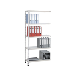 SZ METALL Anbauregal Multiplex, beliebig ausbaubar weiß 80 cm x 180 cm x 35 cm