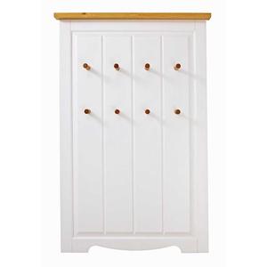 Landhaus Hängegarderobe in Weiß und Kiefer Honigfarben 80 cm breit
