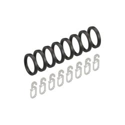 Gardinenring, Liedeco, Gardinenstangen, (Set, 8-St., mit Faltenlegehaken), für Gardinenstangen Ø 16 mm grau