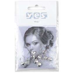 Solida Haar-Piercing Strass  kristall  10 Stück