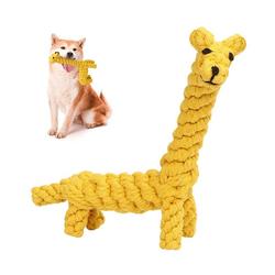 kueatily Beißring Hundespielzeug aus Seil, Großes Hundeset, Hundespielzeug ist ungiftig, Kauspielzeug für robuste Zähne, Interaktives Pet Play Trainingsspielzeug gelb
