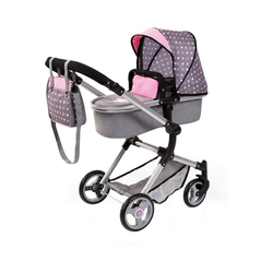 Bayer Puppenwagen Kombi-Puppenwagen Vario, braun rosa