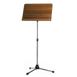 K&M 118/1 Orchesternotenpult Nußbaum, verchromt
