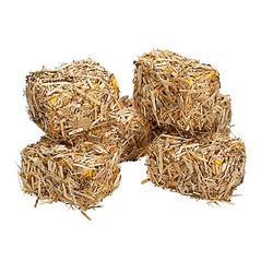 Strohballen, 2,5 x 4 x 2 cm, 6 Stück