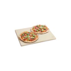 BURNHARD Pizzastein Universal für Backofen & Grill, Cordierit, 45 x 35 x 1.5 cm gelb Ø 45 cm x 35 cm x 1.5 cm