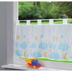 Scheibengardine, Gardinenbox, Schlaufe (1 Stück), Voile Ulm Sichtschutz Küchenfenster 202071 100 cm x 43 cm