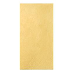 3-lagige Servietten einfarbig 1/8 Falz gelb, Papstar, 40x40 cm