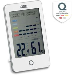 ADE WS 1701 Wetterstation (Hygrometer mit visuellem Schimmelalarm) weiß