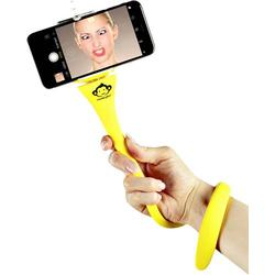 Monkeystick SELMONKEYY Selfie Stick Gelb Bluetooth, inkl. Smartphonehalter