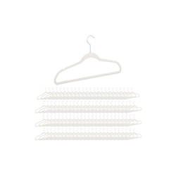 relaxdays Kleiderbügel 100 x Kleiderbügel Samt weiß