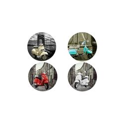 HTI-Line Glasuntersetzer Untersetzer 4-tlg Vespa, 4-teilig, 4-tlg., Untersetzer