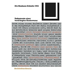Die Bauhaus-Debatte 1953 - Buch